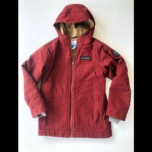 Columbia boys S 8 utility jacket maroon